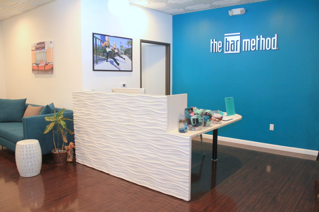 front desk at The Bar Method Studio City