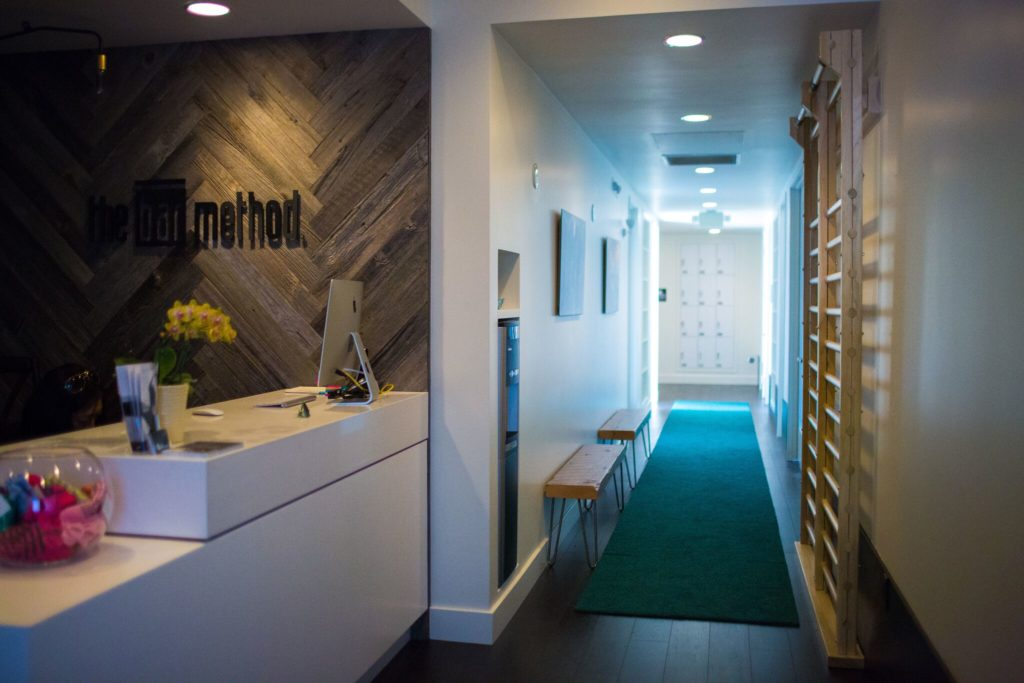Entry way and front desk at Bar Method Berkeley