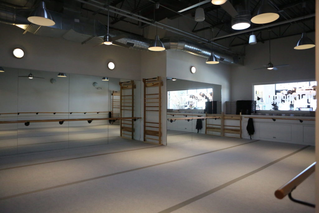 Additional image of the barre studio at the Bar method in closer