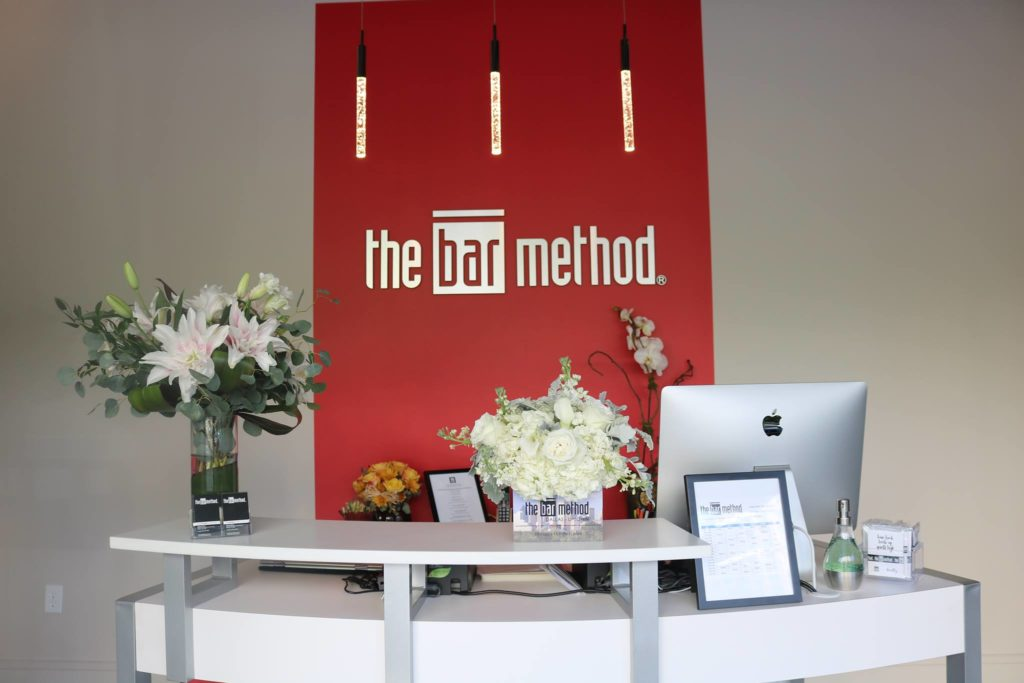 Entry way at the Dallas Park Cities Bar Method Barre Studio