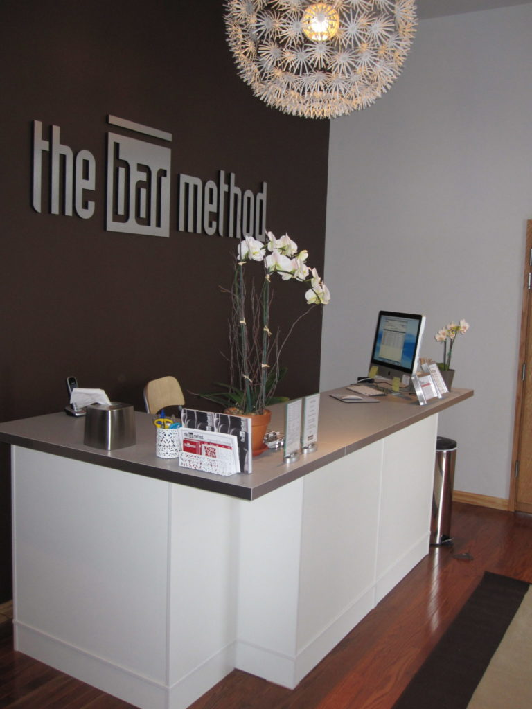 Entry way at the Bar Method in Englewood