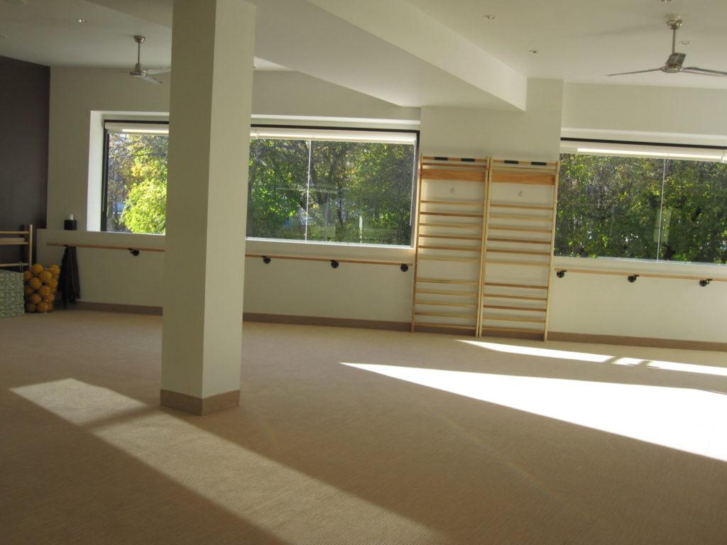 open barre studio at the Bar Method in Englewood