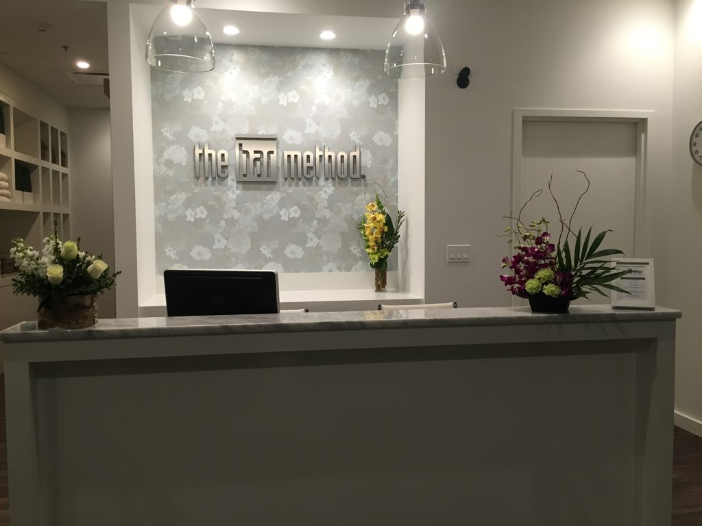 The bar method at the barre studio in downtown highland park