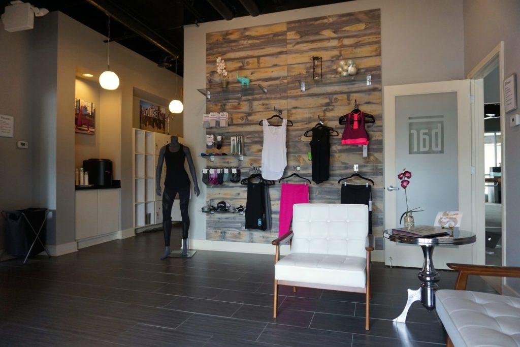 Barre retail area at The Bar Method Houston - Montrose
