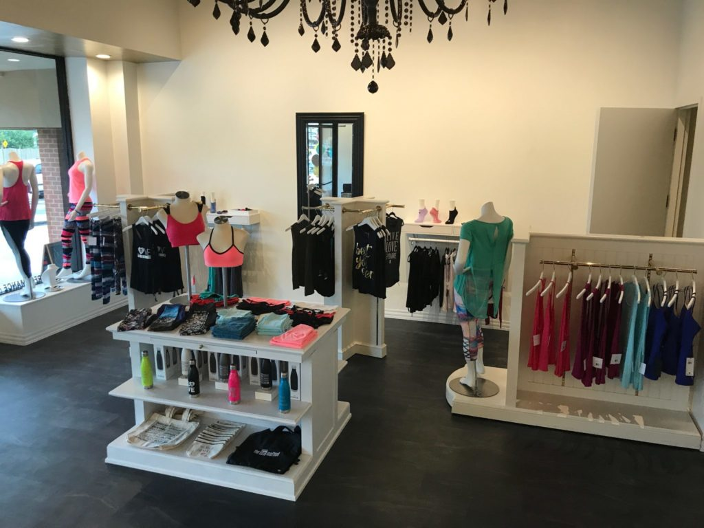 barre fitness fashion, retail space, barre