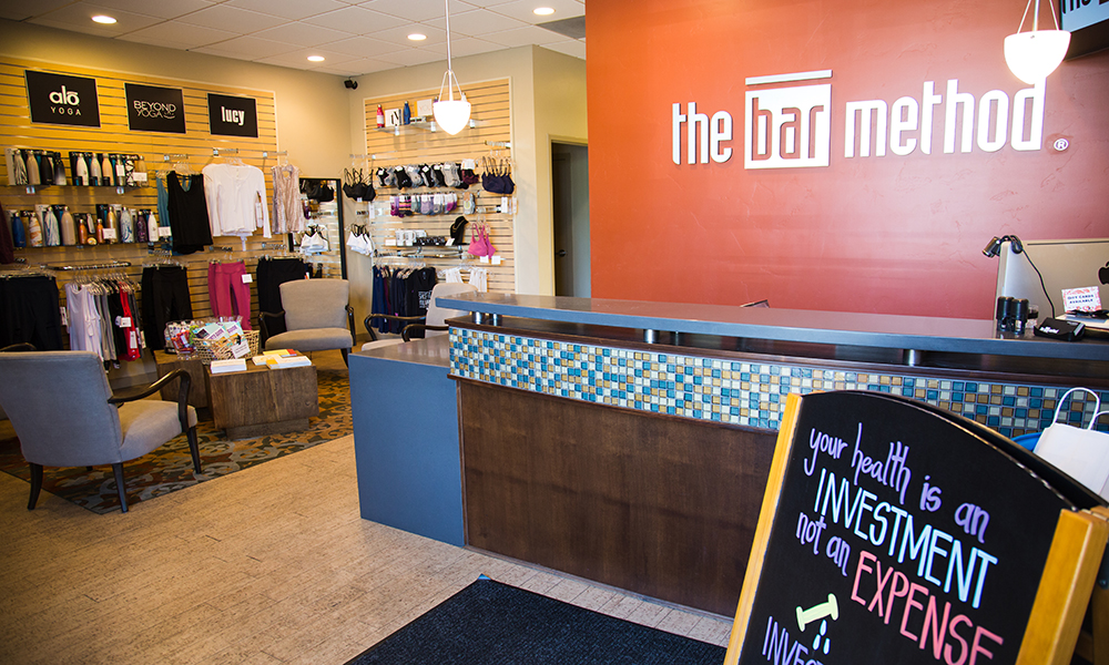 Main lobby at The Bar Method Salt Lake City