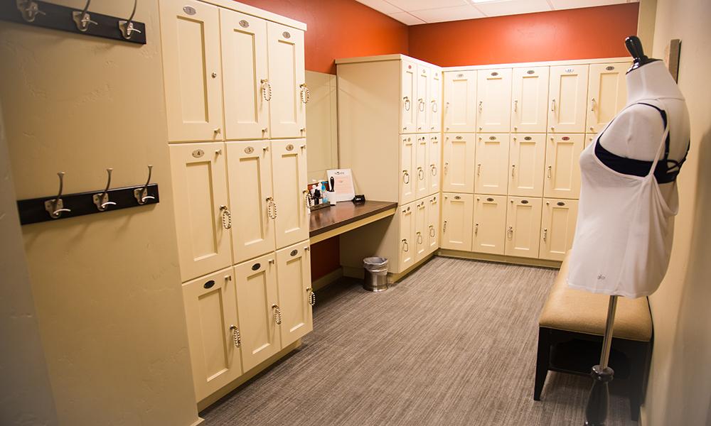 Locker room at The Bar Method Salt Lake City