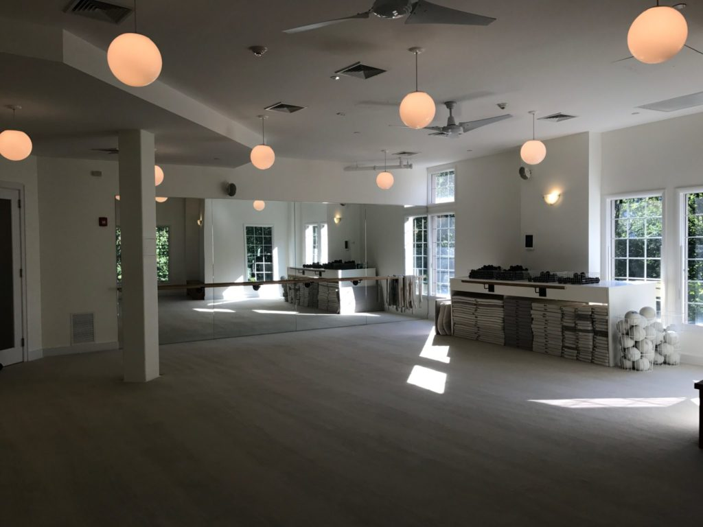 open barre studio at The Bar Method Scarsdale