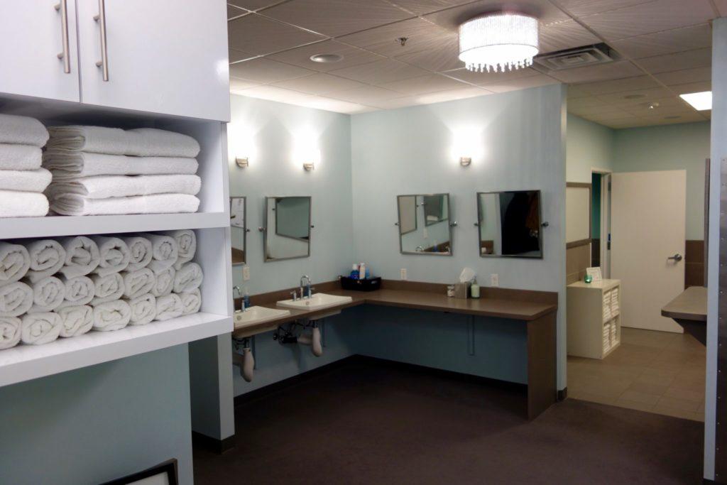 locker room at The Bar Method Seattle