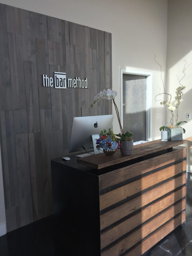 The front desk at The Bar Method Southlake