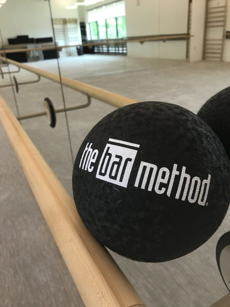 exercise ball at The Bar Method Southlake