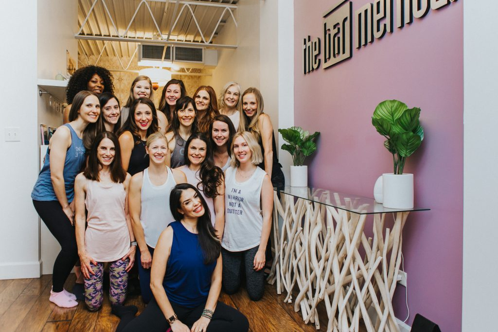Group photo of instructors at bar method cherry creek