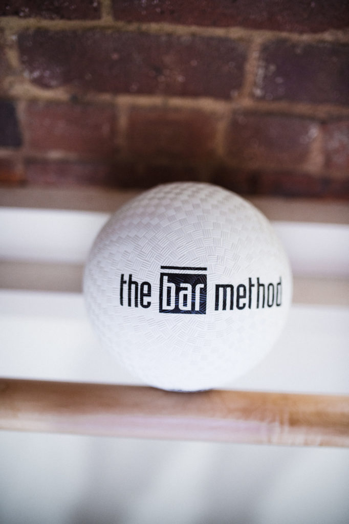 Exercise ball at The Bar Method Williamsburg