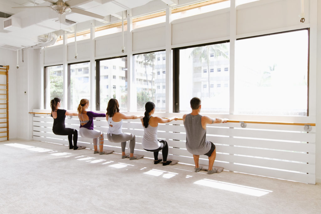 Barre Exercise at The Bar Method Kailua