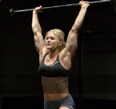 Cross Fit weight lifter