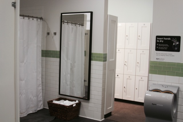 Showers at The Bar Method Tustin