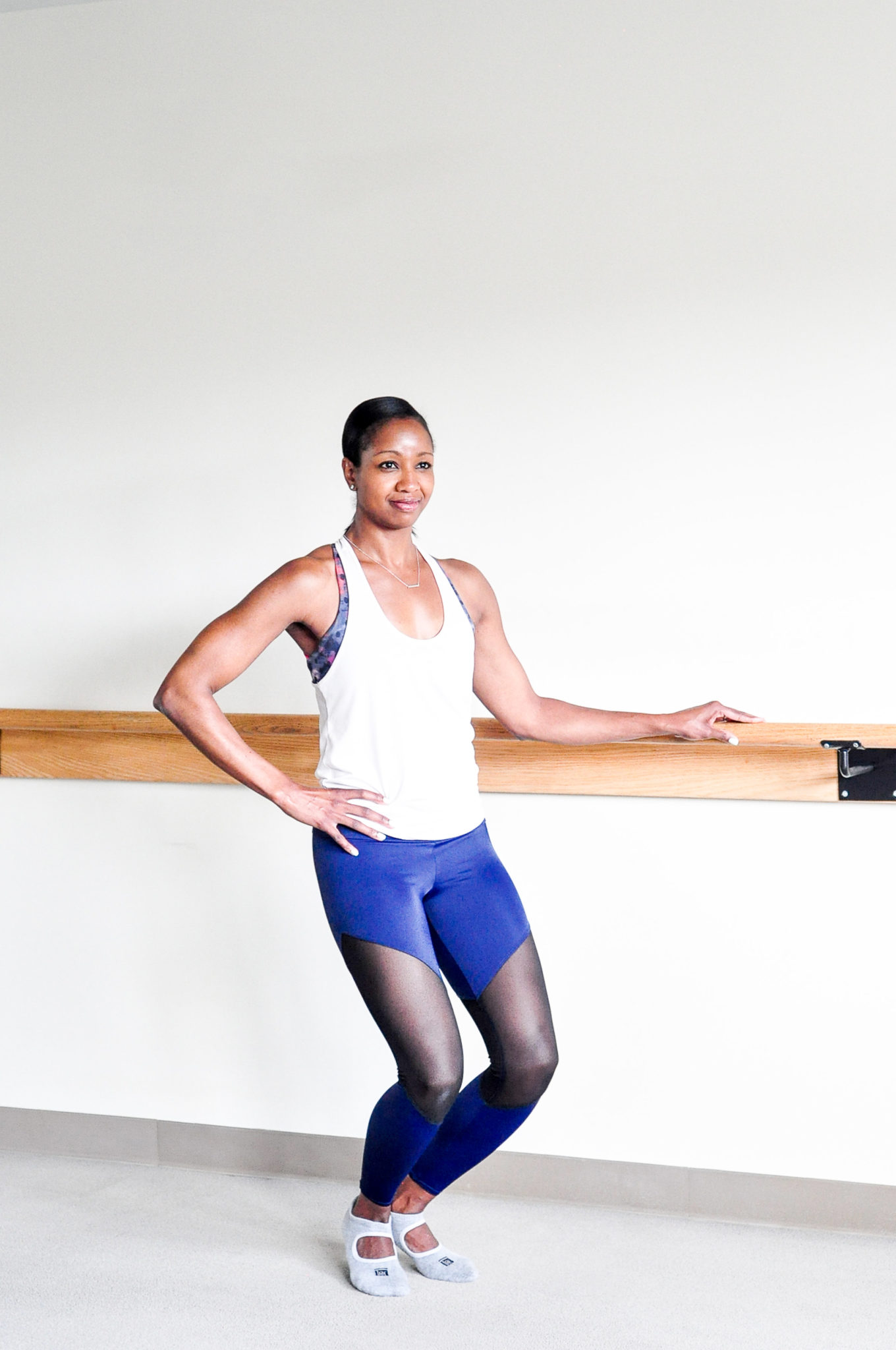 barre-bar method-quadriceps-thigh exercise