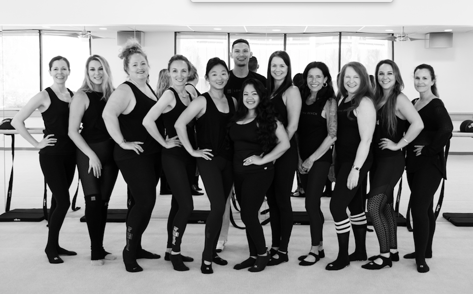 Barre instructors at The Bar Method Long Beach