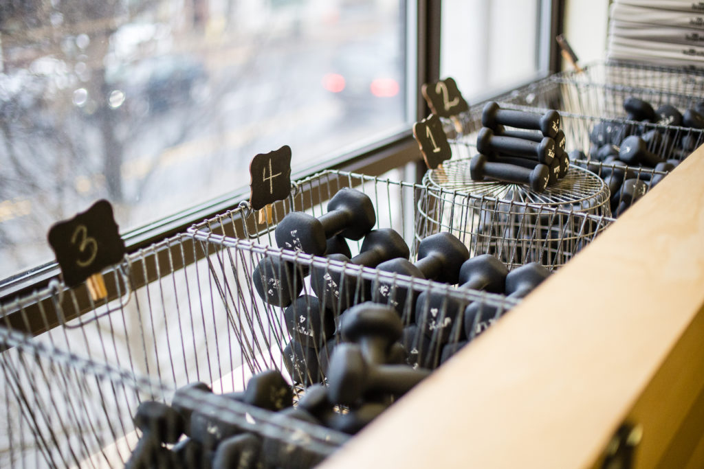 Barre Equipment at The Bar Method Montclair