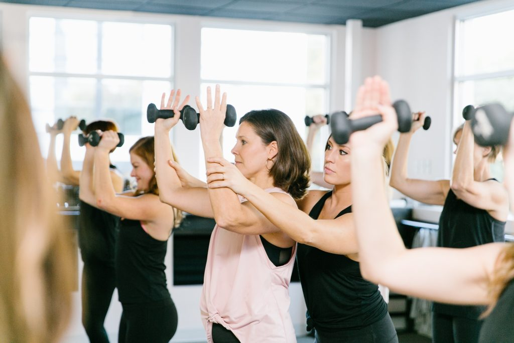 Barre class at The Bar Method Nashville