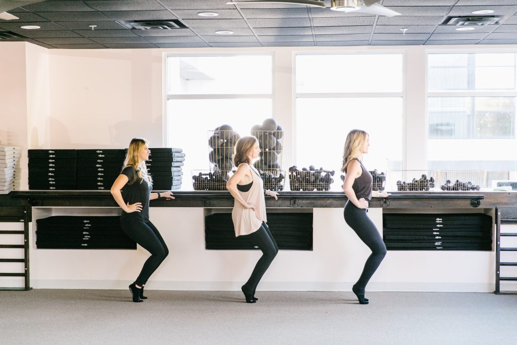 Thigh work in barre class at The Bar Method Nashville