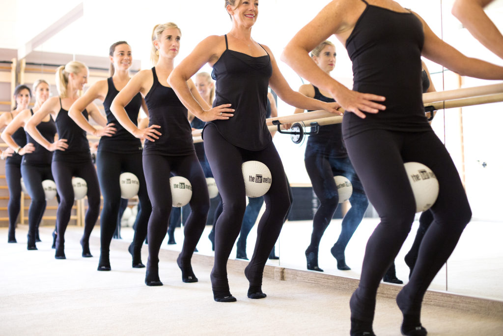 Barre class at The Bar Method Montclair