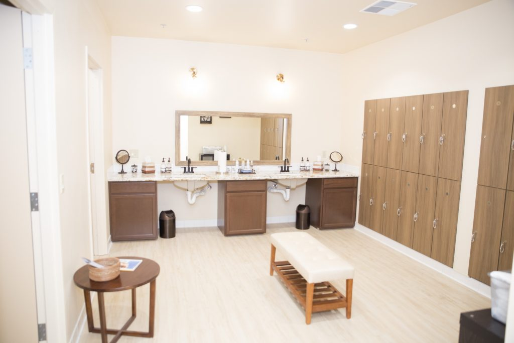 Barre studio locker room