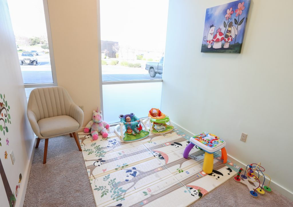 Childcare room at local barre studio