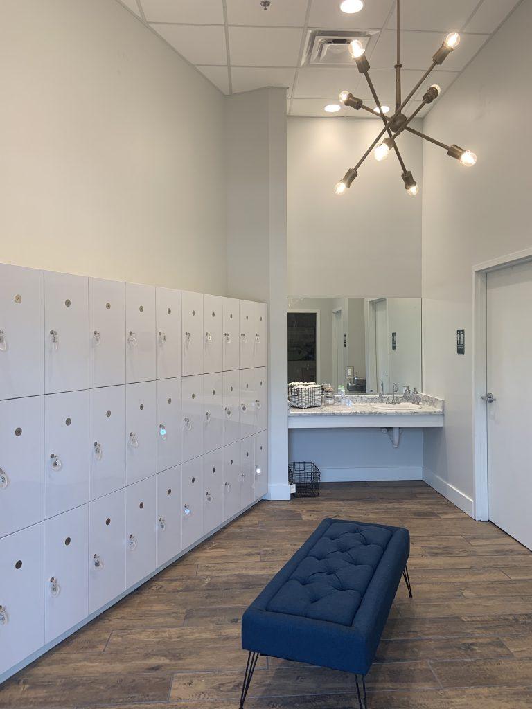 White Lockers at the Bar Method Charleston
