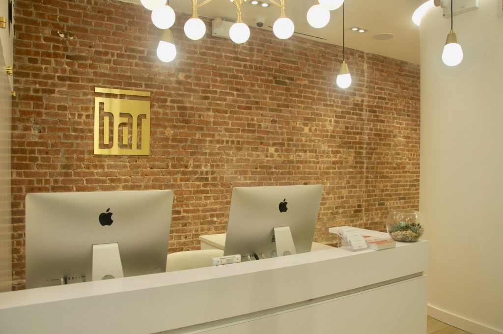 Front desk at The Bar Method Noho