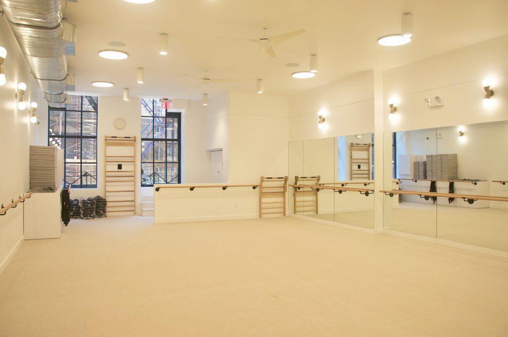 Barre studio at The Bar Method Noho