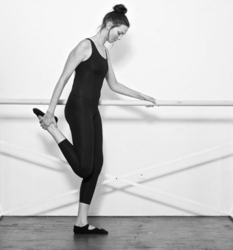 The Bar Method Standing Quad Stretch
