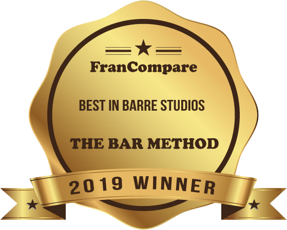 FranCompare Best in Barre Studios The Bar Method 2019 Winner