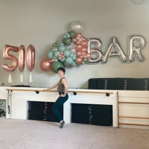 Go to A Bar Method Instructor Reaches Teaching Milestone While Fighting Cancer Article