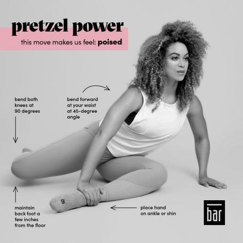 woman in pretzel pose
